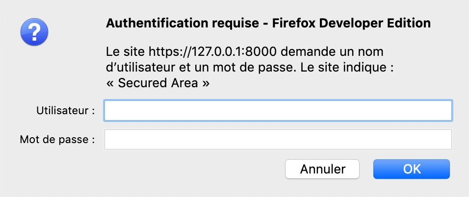 The basic HTTP authentication Firefox popup